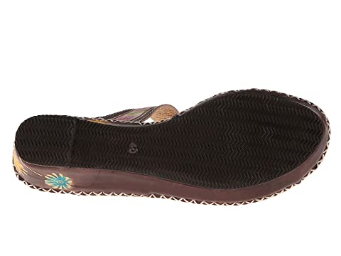 Spring L'Artiste LeatherTurquoiseWhite by LeatherCamelGrey Step Brown Santorini Bxvqf7