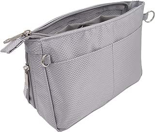 Lrker Nylon Purse Organizer Expandable Handbag Insert Liner Bag Inside Divider