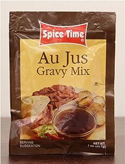 Pack of 24 Spice Time Au Jus Gravy Seasoning Mix 1 oz.