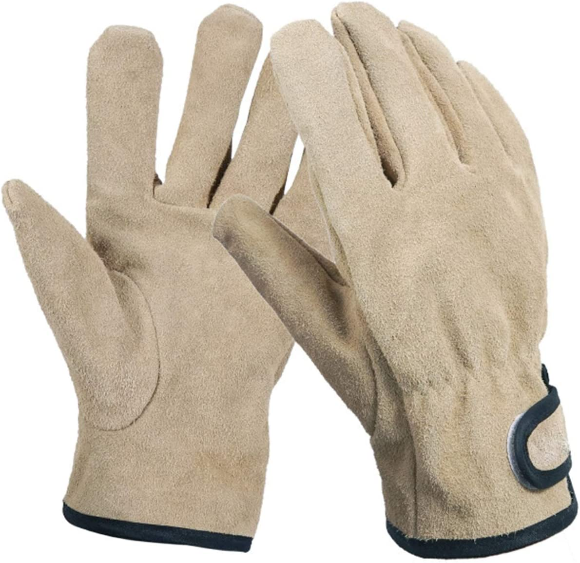 Barbecue Long Beach Mall Gloves San Francisco Mall Welding Reusable Lea Resistant Fire Faux