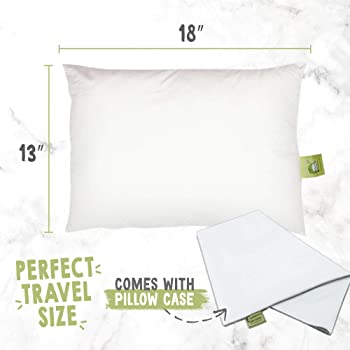 KeaBabies Toddler Pillow with Pillowcase - 13X18 Soft Organic Cotton Baby Pillows for Sleeping - Machine Washable - T...