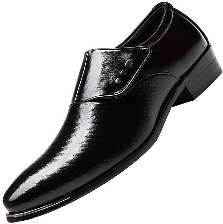 Loser Man's läder Pointed Toe Slip -on Business Dress Oxford