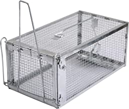 Trap Chipmunk Trap, Chipmunks Rats & Mice Live Humane Cage Trap, No Kill One-Door Medium Animal Rodents Catcher, Just Catch and Release