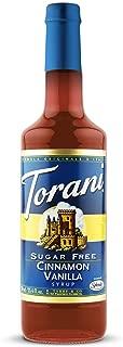Torani Sugar Free Cinnamon Vanilla Syrup w/ Splenda, 750 mL