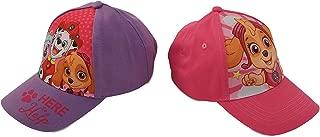 Nickelodeon 女童狗狗巡逻队角色棉质棒球帽,2 件套设计套装,适合 2-7 岁儿童