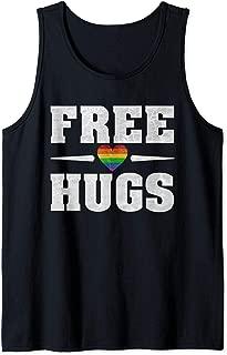 LGBT Free Hugs Gay and Lesbian Rainbow Pride Flag Love Gifts Tank Top