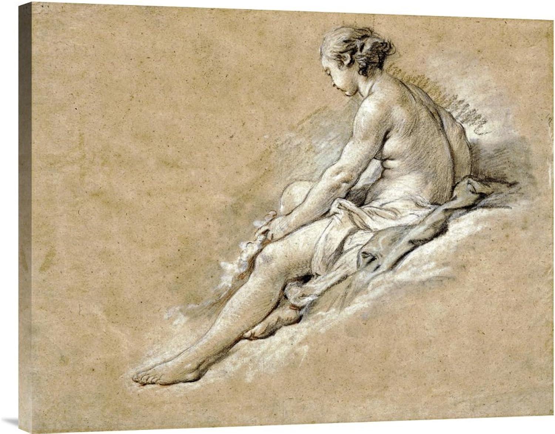 Global Galerie Budget gcs-265964–76,2–360,7 cm Francois Boucher A Nude Girl sitzen Galerie Wrap Giclée-Kunstdruck auf Leinwand Art Wand B01K1QO0BM | Düsseldorf Online Shop