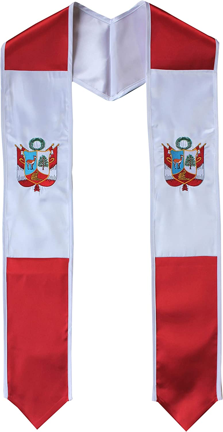 Country Flag Graduation Stole Charlotte Mall Graduate International Popular shop is the lowest price challenge Sash