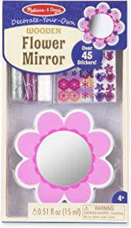 Melissa & Doug Decorate-Your-Own Wooden Pocket-Sized Flower Mirror Craft Kit
