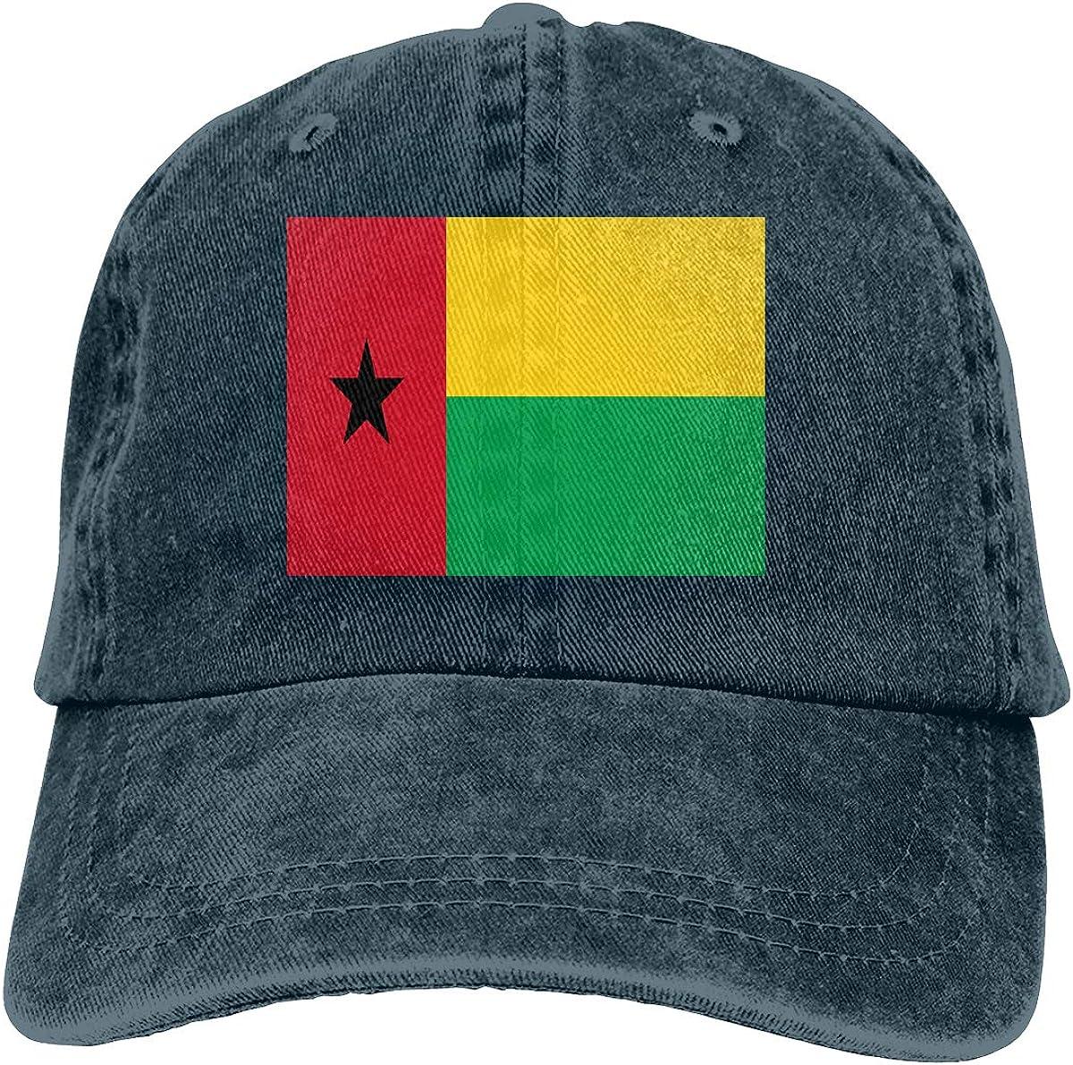 Flag Guinea-Bissau Denim Hat Adjustable Plain Cap Baseball Caps