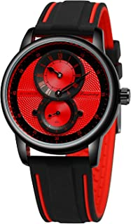 FORSINING Mens Waterproof Fashion Sport Watch with Rubber Band Lightweigh Automatic Wristwatch