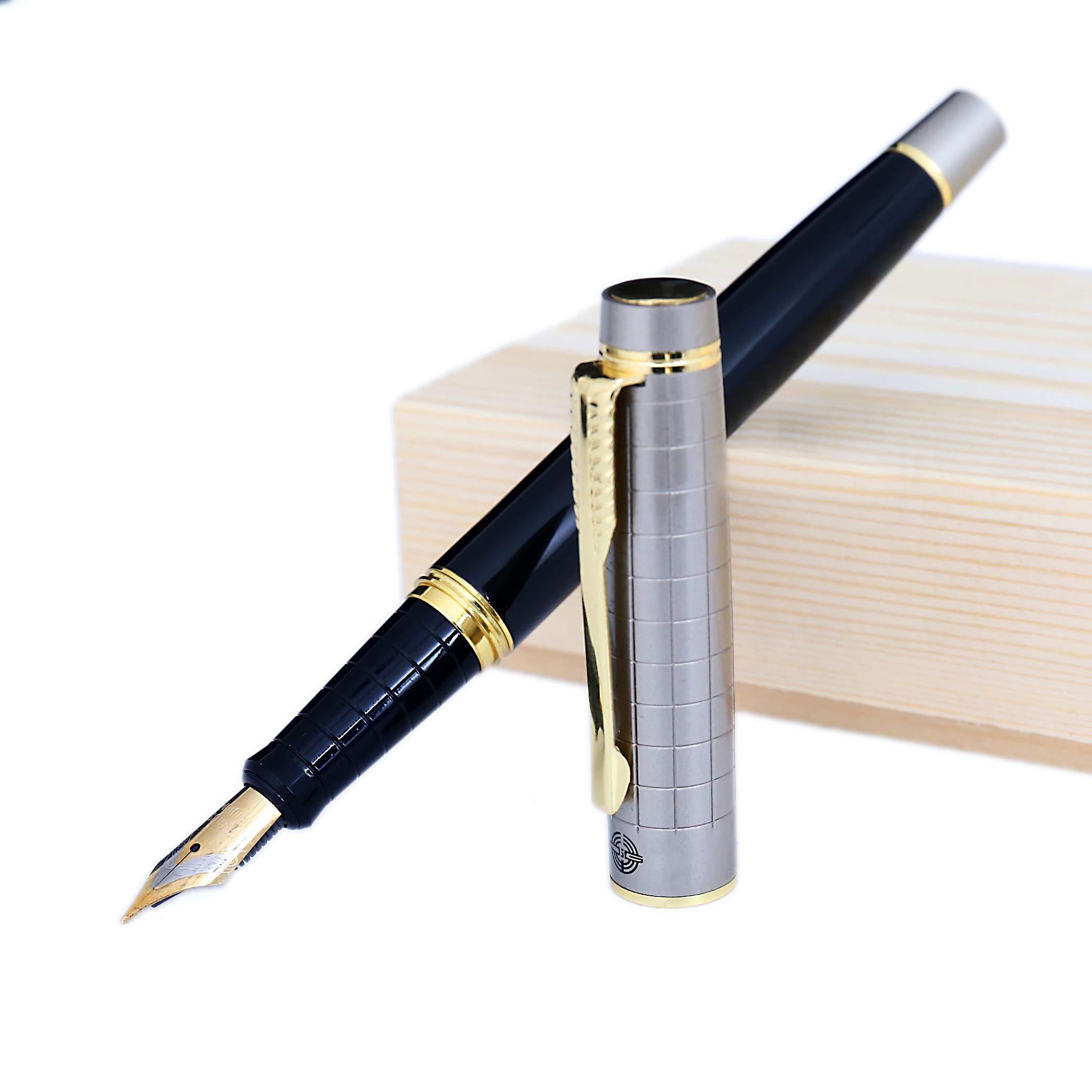 Ganzhi - Pluma estilográfica y pluma en caja de regalo con estuche de regalo de lujo: Amazon.es: Oficina y papelería
