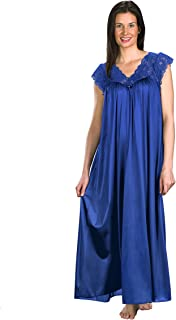 "Shadowline womens Silhouette 53"" Short Cap Sleeve Long Gown Nightgown"