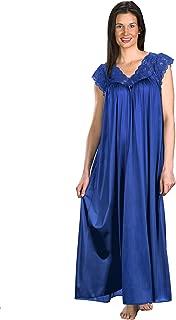 "Shadowline Women's Silhouette Plus Size 53"" Short Cap Sleeve Long Gown"