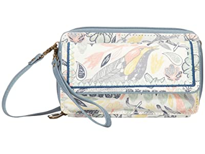 Sakroots Luna Smartphone Crossbody (Multi Peace Birds) Cross Body Handbags