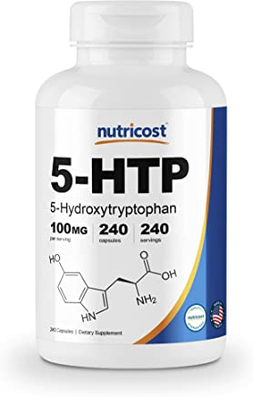 Nutricost 5-HTP 100mg, 240 Capsules (5-Hydroxytryptophan) - Veggie Caps, Gluten Free, Non-GMO