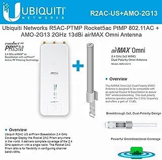 Rocket 2AC Prism R2AC airPrism Basestation 2.4GHz airMax with AMO-2G13 Omni Antenna 2GHz 13dBi