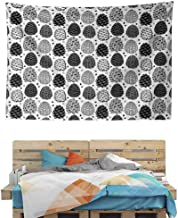 HuaWuChou Winter Season Cone Shape Tapestry Wall Hanging Tapestries, Wall Blanket Wall Art for Living Room Bedroom Home Decor, 92.5W x 70.9L Inches