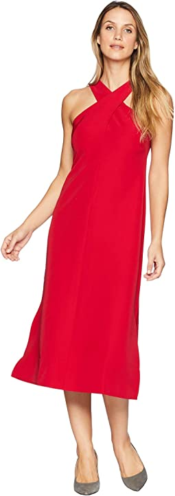 Twist Neck Dream Crepe Midi Dress