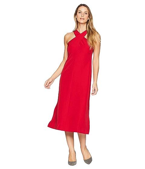 25860100 Maggy London Twist Neck Dream Crepe Midi Dress at 6pm
