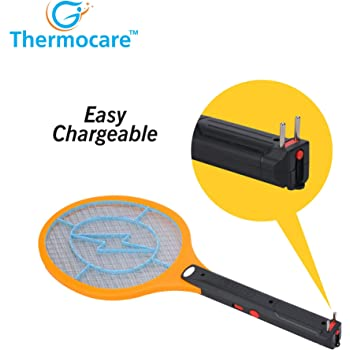 Thermocare Racket Mosquito Bat Killer Electric Rechargable Assorted Multi Color