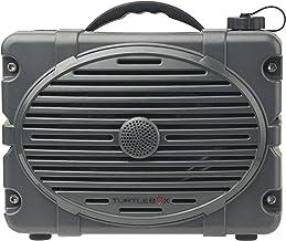Turtlebox: ¡Fuerte! Altavoz Bluetooth resistente al aire libre ~ hasta 50 + horas de carga | IP67 resistente al agua y al polvo. (Reproduce hasta 120 db. Par de 2 altavoces para estéreo verdadero, color gris