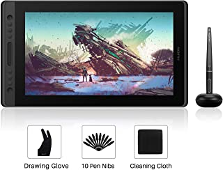 Huion Kamvas Pro 16 Drawing Monitor Pen Display 15.6 Inch IPS Graphic Tablets with Screen, Full-Laminated Technology, Battery-Free Pen with 8192 Levels Pressure, 120% sRGB