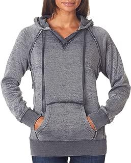 MV Sport Womens Burnout V-Notch Hooded Fleece