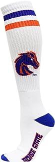 جوارب NCAA Boise State Broncos للرجال كعب إصبع القدم أنبوب جوارب ، أبيض/أزرق