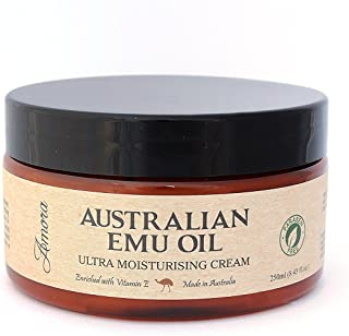 Paraben-free Australian Emu Oil Ultra Moisturizing Cream (8.45 oz | 250 ml) Pharmaceutical Grade, Super Strength, Made in Australia