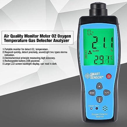 Monitor de calidad del aire Medidor O2 Temperatura del oxígeno Analizador del detector de gas Probador