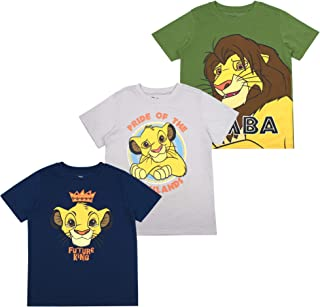 Boys 3-Pack T-Shirts: Wide Variety Includes Lion King, Cars, Mickey Mouse