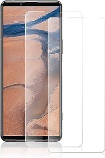ROVLAK Skärmskydd för Sony Xperia 5 III skärmskydd i härdat glas 2-pack HD 2.5D 9H skyddsfilm skydd anti-fingeravtryck bub...
