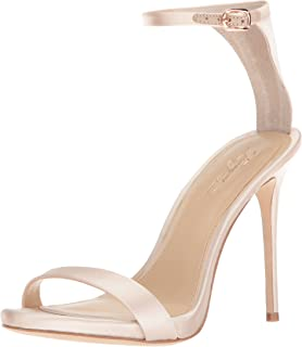 Imagine Vince Camuto Women's Dacia Heeled Sandal, Natural, 9 Medium US
