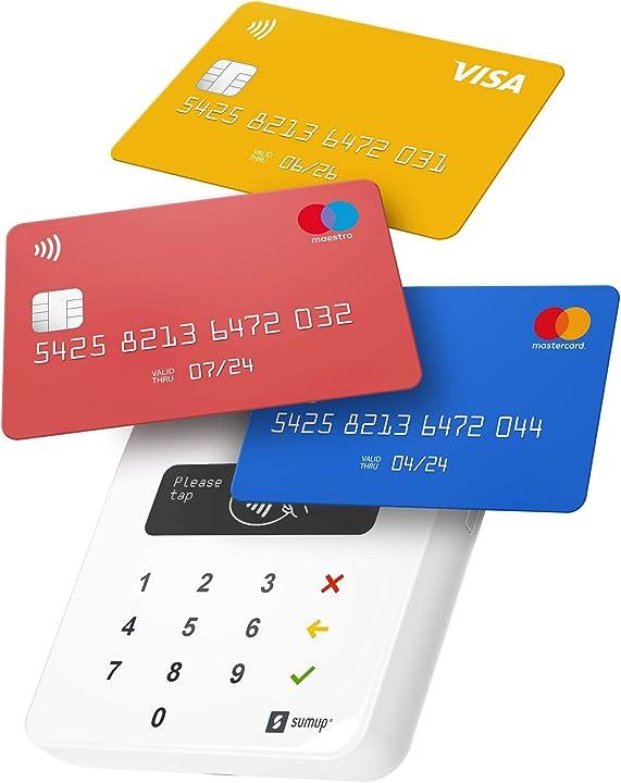 Lettore di carte sumup air per pagamenti con carta di debito da smartphone credito, apple pay, google pay 4260325421133