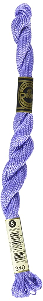 DMC 115 5-340 Pearl Cotton Thread, Medium Blue Violet, Size 5