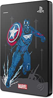 Seagate Game Drive for PS4 Marvel's Avengers LE - Captain America, 2 TB, Externe Harde Schijf, USB 3.0, Metallic Grey, off...