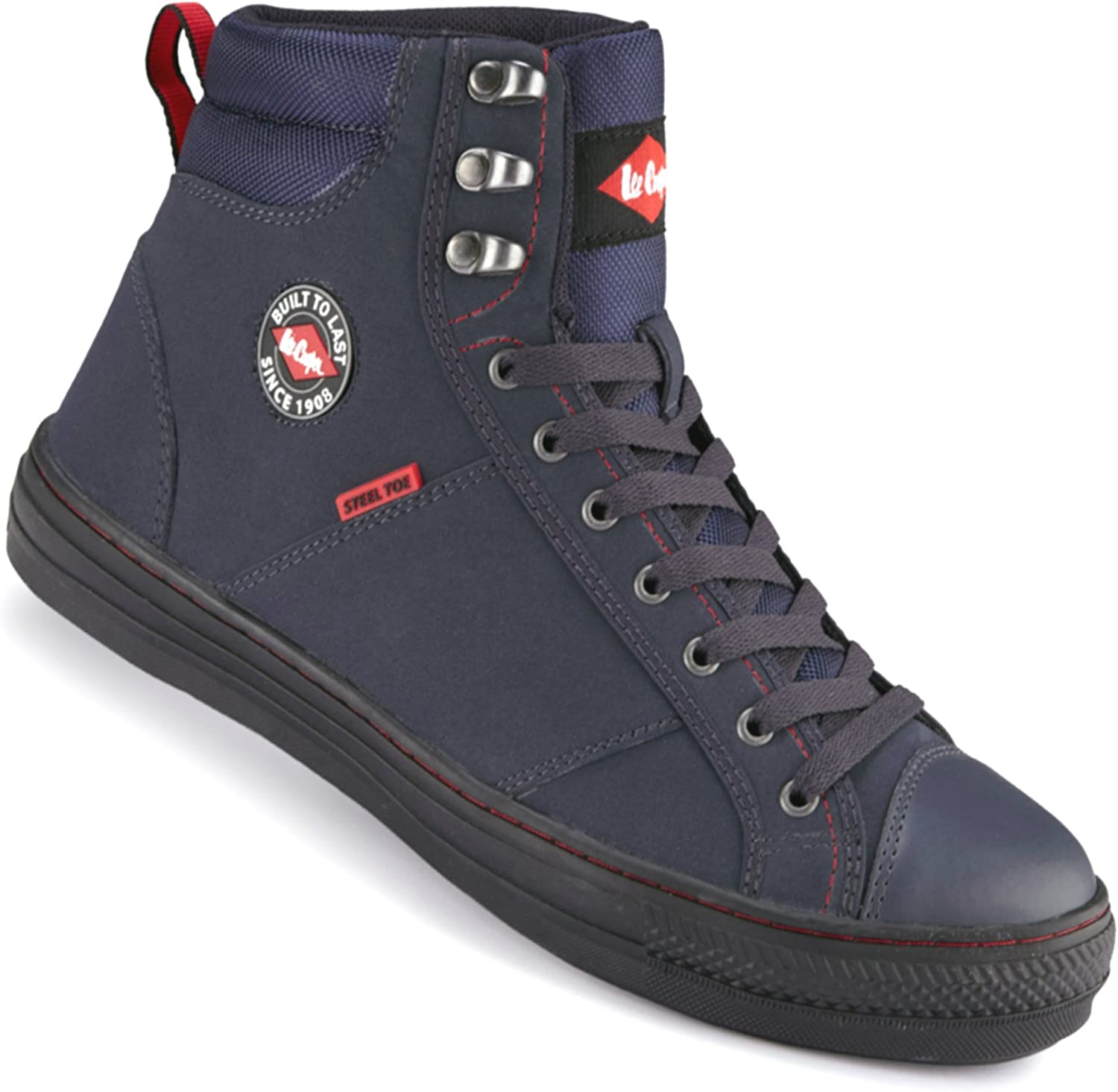 Lee Cooper Navy bluee Lace Up Sports Mid Top Trainer Boot - Sizes 3 to 12