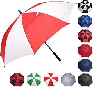 BAGAIL Golf Umbrella 68/62/58 Inch Large Oversize Double Canopy Vented Windproof Waterproof Automatic Open Stick Umbrellas for Men and Women