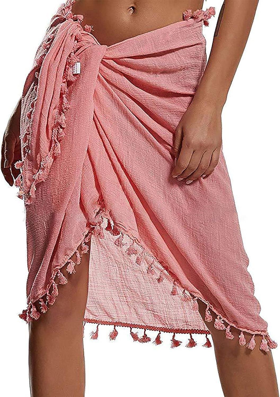 Danlai Swimsuit Wrap for Women,Women Chiffon Swimsuit Wrap Skirts Beach Sarong Pareo Womens Semi-Sheer Swimwear Cover Up