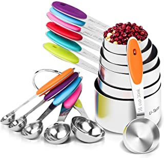 Best U-Taste 12 Piece Measuring Cups and Spoons Set in 18/8 Stainless Steel : 7 Measuring Cups & 5 Measuring Spoons Review