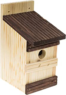 Casa de pájaros de madera, caja de nido colgante, pajarera para pájaros azules, gorrión, pezumbidos, para nidos en tu jard...