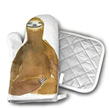 DSIUHI19 Donald Marjory Yoga for SlothsThe Polyester-Cotton Fashion is Cute and The Heat-Resistant Oven Gloves are Suitable for All High-Temperature Food in The Kitchen.