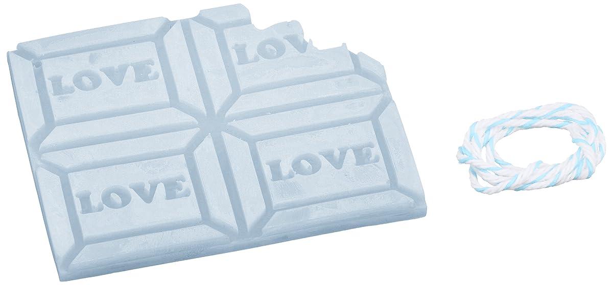ペグ振りかけるバルブGRASSE TOKYO AROMATICWAXチャーム「板チョコ(LOVE)」(BL) ローズマリー アロマティックワックス グラーストウキョウ