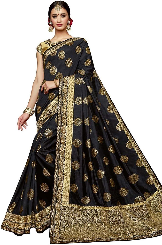 INMONARCH Black and Brown Silk Partywear Saree SSR12216
