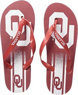 NCAA Oklahoma Sooners Unisex Unisex Gradient Big Logo FLIP FLOPOKLAHOMA Unisex Gradient Big Logo FLIP Flop Small, Team Color, S