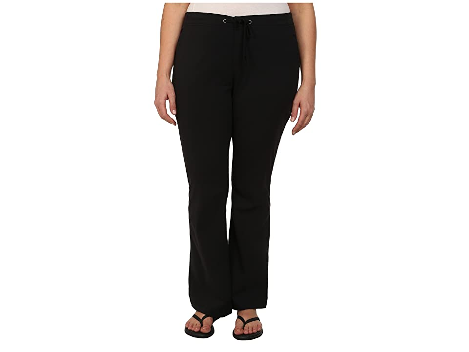Columbia Plus Size Anytime Outdoortm Boot Cut Pant (Black) Women