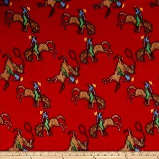 Newcastle Fabrics Polar Fleece Ride em Cowboy Red Fabric by The Yard,