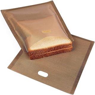 10 unids Reutilizables Antiadherente Resistente al Calor tostadora Pan Tostadas Pan Tostado microondas calefacci/ón pasteler/ía Herramientas de la hornada 6.3 x 6.5 Pulgadas