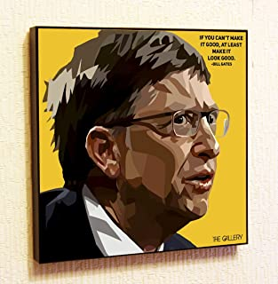 Bill Gates Microsoft Motivational Quotes Wall Decals Pop Art Gifts Portrait Framed Famous Paintings on Acrylic Canvas Poster Prints Artwork Geek Decor (10x10